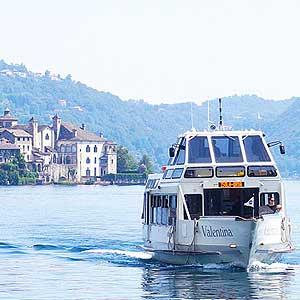 Die Schifffahrt am Lago d'Orta