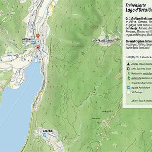 Bild zeigt einen Kartenausschnitt des Ortasees.
